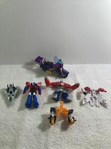 Transformers Mini Figures Lot Optimus Prime, Motorcycle, Parts Lot