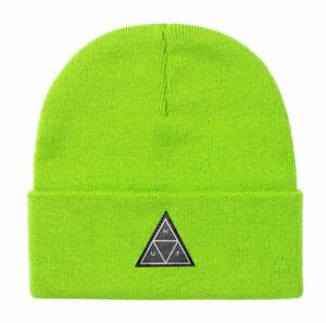 Huf-Worldwide-Skateboard-Beanie-Muetze-Hat-Triple-Triangle-Bio-Lime