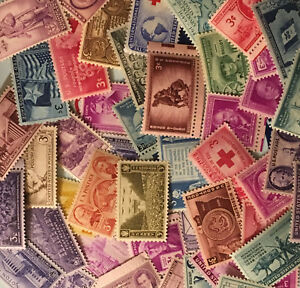 50-different-mint-old-3-commemoratives-1930s-to-1950s-vintage