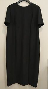 Maggy-London-Sheath-Dress-Womens-Size-22-Black-Long-Maxi-Length-Short-Sleeve
