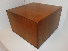 Vtg 1970's Milo Baughman Walnut Cube Side End Table Pedestal Mid Century Modern