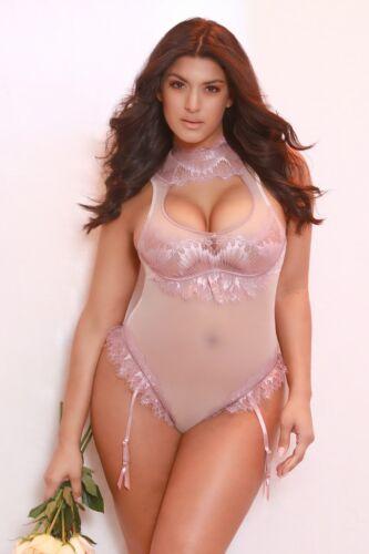 Women's Lingerie Teddy Plus Size Maia Eyelash Lace Collared Oh la la Cheri