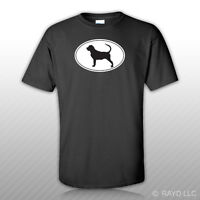 Bloodhound Euro Oval T-shirt Tee Shirt Free Sticker Dog Canine