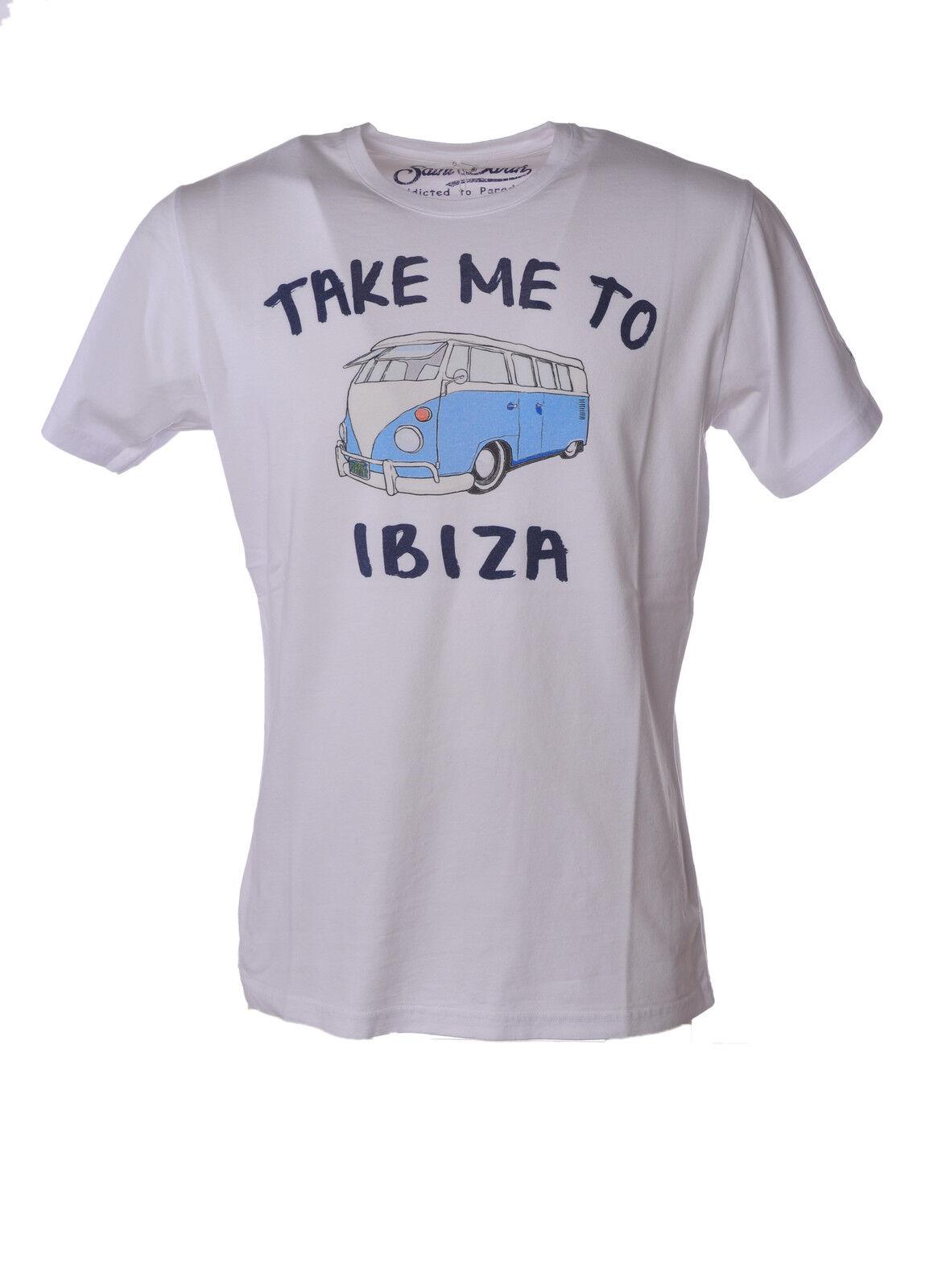 Saint Barth - Topwear-T-shirts - Man - Weiß - 3495311M183629