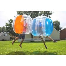 BUBBLE BALL 2 PACK~4' WEARABLE INFLATABLE~FOOTBALL SOCCER SPORT ZORB~ORANGE BLUE