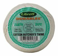 Cotton Butcher's Cooking Twine String 185 Feet Kitchen Meat Chef Poultry 249 on sale
