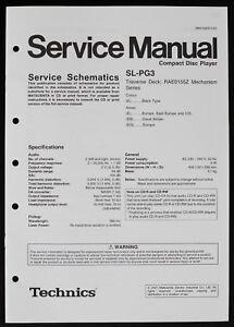 technics sl pg3 original cd player service manual schematic diagram Technics SL 1700 Ad image is loading technics sl pg3 original cd player service manual