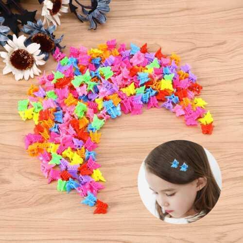Mini Schmetterling Haarnadel Kleine klaue clip Haarspangen Kunststoff  200 stück