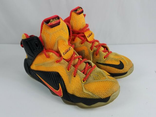 Nike LeBron XII WITNESS 12 GS Laser Orange Crimson YOUTH SZ 4Y 685181-830 e4ccdb9dc50d