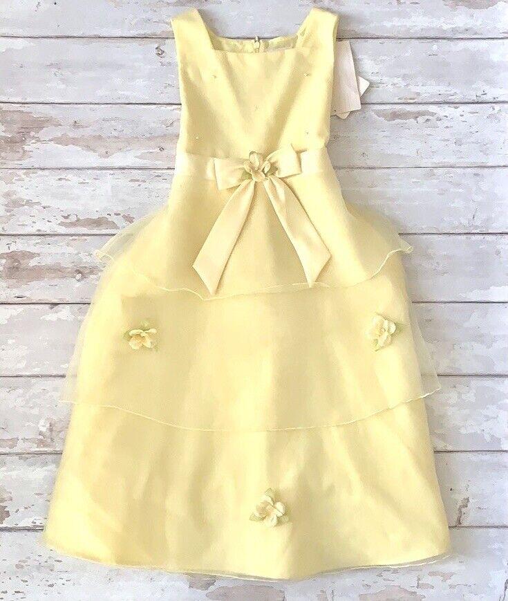 Girls Size 14 Formal Yellow Spring Flower Girl Dress