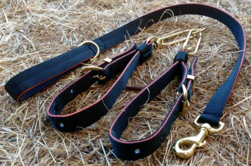 Sangle ST18 collier de chien Couples & Lead Set TERRIER/LURCHER/Hound/Chien Black,Black & Orange 0kwJt