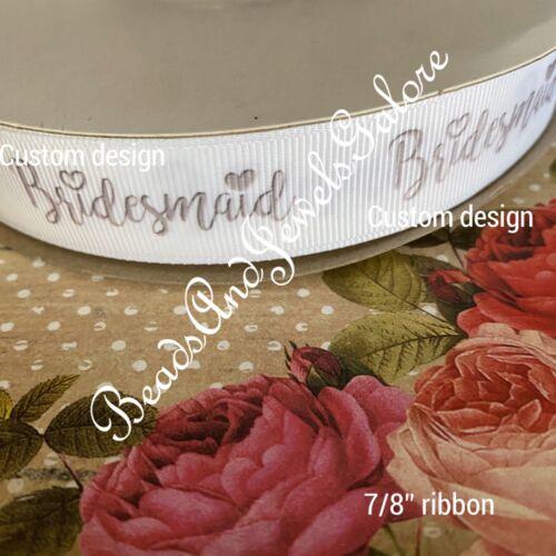 Bride foe bride elastic bachelorette hair ties bride ribbon bridesmaid bridal