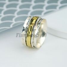 925 Sterling Silver Spinner Ring Meditation Statement Handmade Jewelry A168