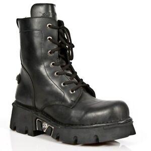 S1 Boots Gothic Rock M Punk Black Newrock New Biker Unisex 563 FfwzEWqS