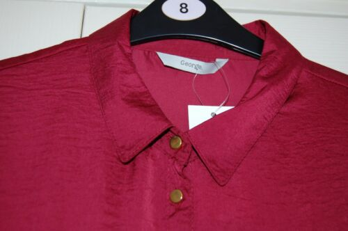 Line Material Sz Shiny Sleeveless Shirt Long Maroon New Hammered Faux In 16 Belt qBvUwt