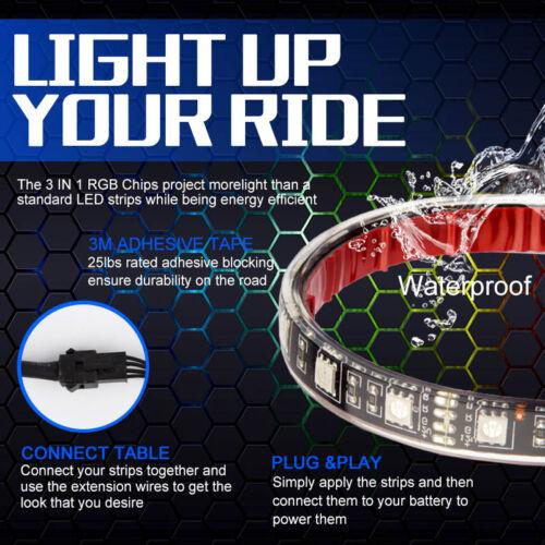 Multicolor Pro Grille LED Exterior Multicolor Strip Light Kit for Car Waterproof