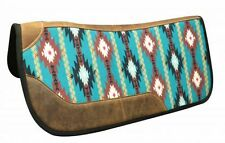"Showman 31"" x 32"" NAVAJO Print Felt Bottom Contoured Western Saddle Pad"