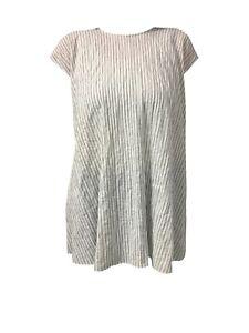 Streng Aspesi Damenhemd Streifen Ecru/grau Mod H811 G166 99% Baumwolle 1% Polyurethan Neueste Mode Vintage-mode Vintage-mode Für Damen