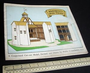 1960s Vintage Cut-Out Model Book Shakespeare's Globe Theatre. Waldo Lanchester