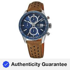 New Tag Heuer Carrera Calibre 16 Chronograph Blue Men's Watch CBM2112.FC6455
