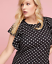 Lane-Bryant-Ruffle-Sleeve-Polka-Dot-Fit-Flare-Dress-Women-Plus-22-24-26-28-3x-4x thumbnail 3