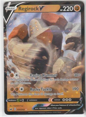 REGIROCK 104//202 Pokemon Sword /& Shield BASIC V Art Foil Ultra Rare