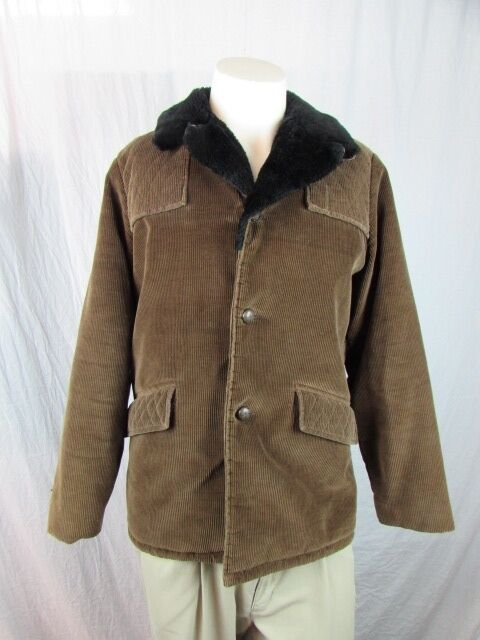 Directions 80's  Corduroy Sherpa 70's 80's Hippie Mod Coat Made in Japan RARE
