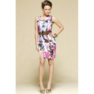 PINK-RUBY-Plumage-Floaty-Dress-size-14-Clearance-BNWT