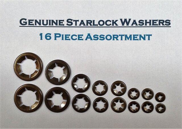 /& 8mm 50PCE Starlock Push On Lock Speed Clip Retainer Washers 10 x3,4,5,6