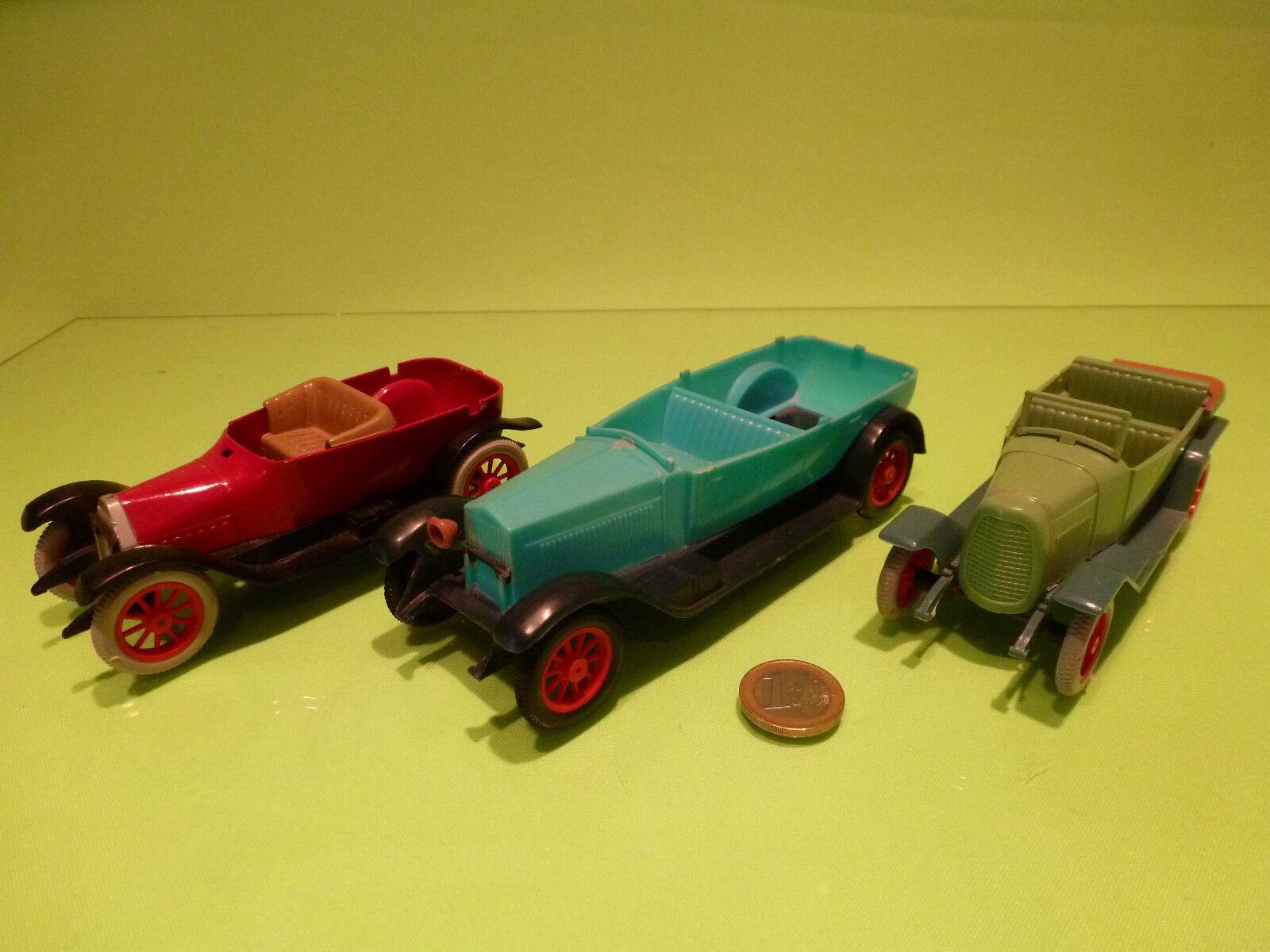 INGAP PLASTIC 3x FIAT 501 1912 519 519 519 - VINTAGE CLASSIC - blueE 1 32 - PLASTIK a1712a