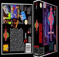 Legend - Snes Reproduction Art Case/box No Game.