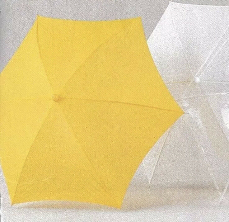 Solid Yellow Child Adult Parasol One Size Prop Theatrical Party Mardi Gras NEW