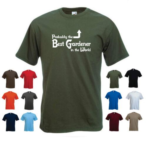 /'Probably the Best Gardener in the World/' Funny Gardening Birthday T-shirt