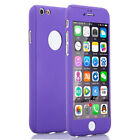 For iPhone 6 6S Plus 360° Acrylic Case Cover + Hybrid Tempered Glass Protector