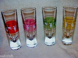 4-Gumps-Italian-Borgonovo-Crystal-Brunch-6-1-2-Glasses-Bullet-Bottom-Highball