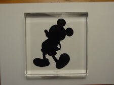 Disney Robert Guenther RARE Mickey Mouse Etched Glass Paperweight