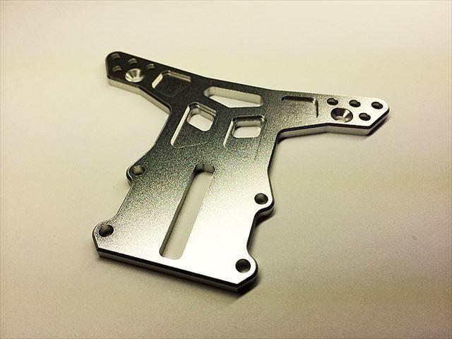 Square swr-3s in alluminio piastra anteriore  argento  per TAMIYA wr-02 Wild Willy 2
