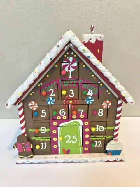 rare!-st-nicholas-square-large-wooden-gingerbread-house-advent-calendar-village by ebay-seller