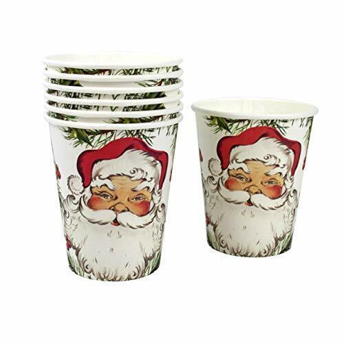 blanc et vert rouge environ 255.14 g 12 Pack 9 oz Talking Tables BOTANIQUE Santa Tasses
