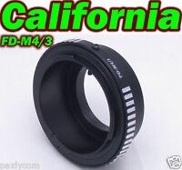 Canon FD Lens To Micro 4/3 M43 M4/3 Adapter PEN E-P1 E-P2 E-PL1 E-PL3 E-PM3 GF1