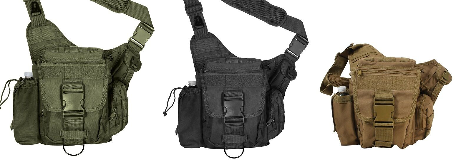 Advanced Tactical Shoulder Hip Bag - MOLLE Compatible with Cell Phone Pouch