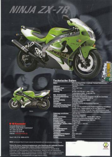 7 R prospetto brochure 4 pagine 11-2000 KAWASAKI ZX