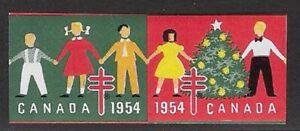 Canada Tuberculosis Christmas stamp 1954 - Catalog #53P, Proof Pair - dw6.93