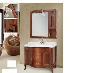 Arredo bagno classico tivoli legno massello finitura noce ebay - Mobili classici legno massello ...