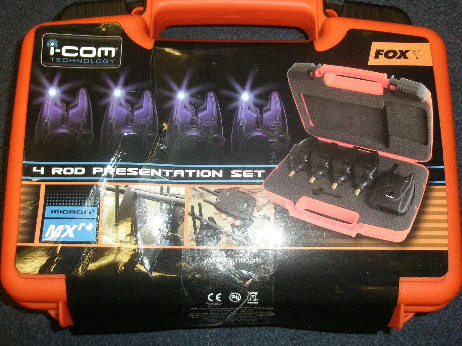 Fox Mikron Mxr + 4 Alarm ( Alle Blau) und Empfänger Set Karpfenangeln Ausrüstung