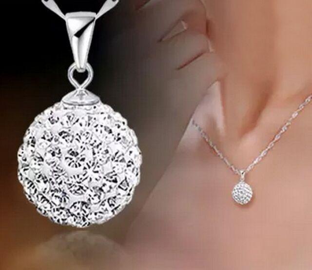 GRAU New Fashion Women Silver Chain Crystal Rhinestone Necklace Pendant HOT