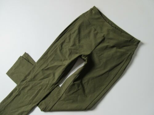 NWT Eileen Fisher Washable Stretch Crepe in Olive Slim w// Slits Pull-on Pants M