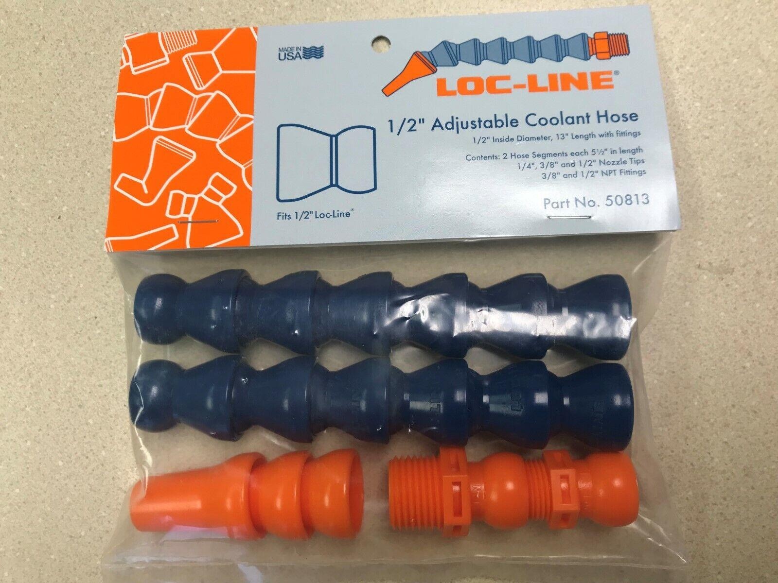 Acetal Copolymer 1//2 Hose ID 13 Piece Loc-Line Coolant Hose Extended Element Kit