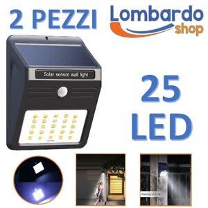 Kit-2-Spotlights-LED-Solar-Outer-Lamp-Garden-Spotlight-Motion-Sensor-Light
