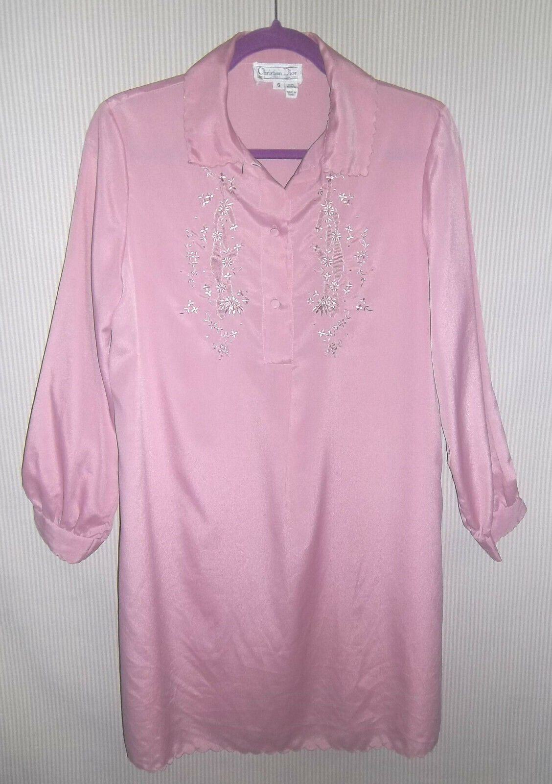 Vintage 1980's Christian Dior Size S Lilac Night … - image 2